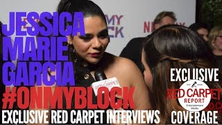 "Jessica Marie Garcia interview at Premiere of Netflix's comedy ""On My Block"" #OnMyBlock"