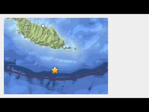 7 6 Magnitude Earthquake Hits Near The Solomon Islands   12 April 2014