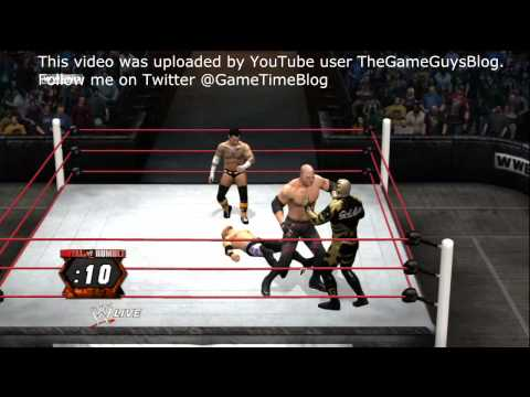 WWE 12 Gameplay: 40-man Royal Rumble Match - Legend difficulty on Xbox 360
