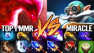 TOP 1 mmr Morphling VS MIRACLE- Gyrocopter - TOP ranked Gameplay Dota 2