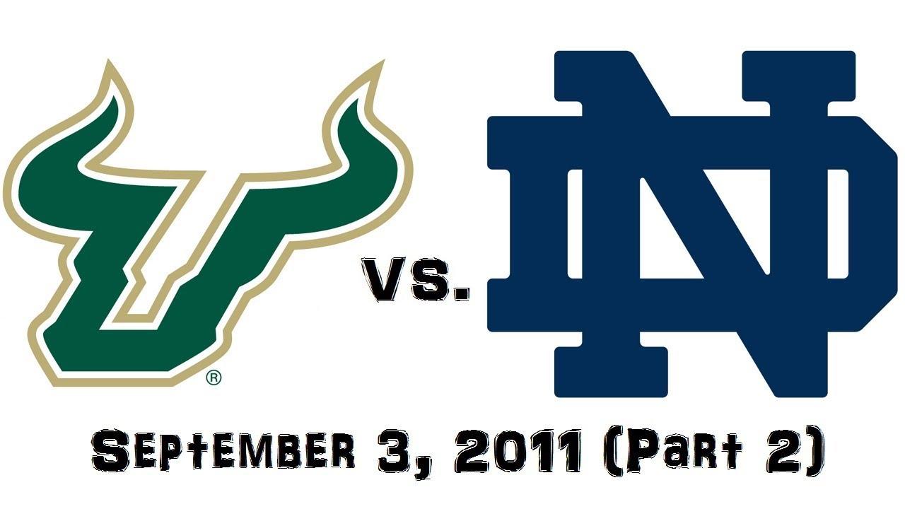 september 3 2011 south florida bulls vs 16 notre dame fighting rh youtube com  logo lycée notre dame fontenay le comte