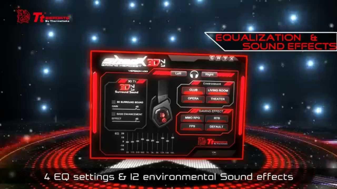 Tt eSPORTS - SHOCK 3D 7 1 Gaming Headset