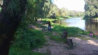 на реке Порусья бабы полощут ковровую дорожку(Девчушка на велосипеде спрашивает: