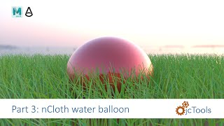 Maya Tutorial: nCloth simulated ball - water balloon