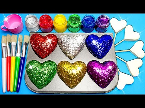 How To Make Frozen Paint With Glitter Play Doh Hearts