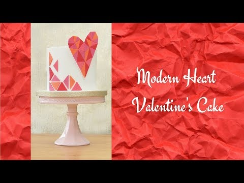 Modern Heart VALENTINE'S CAKE | Ilona Deakin at Tiers Of Happiness