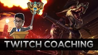 [Diamond 2] Twitch vs Caitlyn Coaching | Patience | Lane Control | Rotations