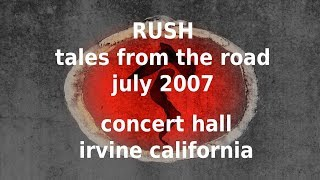 Rush - Tales From the Road - Concert Hall - Irvine Meadows California