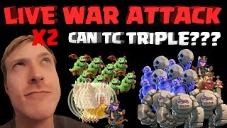 CAN TC TRIPLE? Stoned HoBo and 9v10 Queen Charge Baby Dragons - Clash of Clans