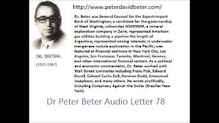 Dr. Peter Beter Audio Letter 78: Beirut; Pentagon; Russian Weapon- August 27, 1982