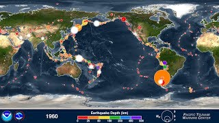 This animation shows every recorded earthquake in sequence as they ...