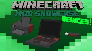 Video Minecraft Mod Showcase- DEVICES! REALISTIC LAPTOPS! download MP3, 3GP, MP4, WEBM, AVI, FLV Juli 2018