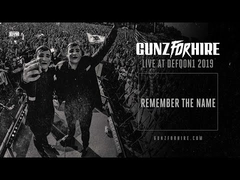 Смотреть клип Gunz For Hire - Remember The Name