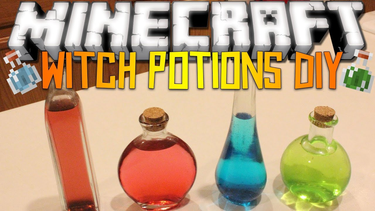 Minecraft Witch's Potions - DIY - YouTube