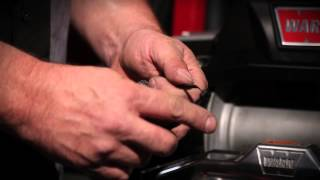 How to install the winch rope on a WARN ZEON winch