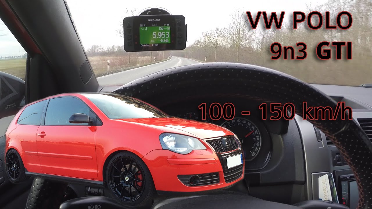 vw polo 9n3 gti 100 150km h gps acceleration youtube. Black Bedroom Furniture Sets. Home Design Ideas