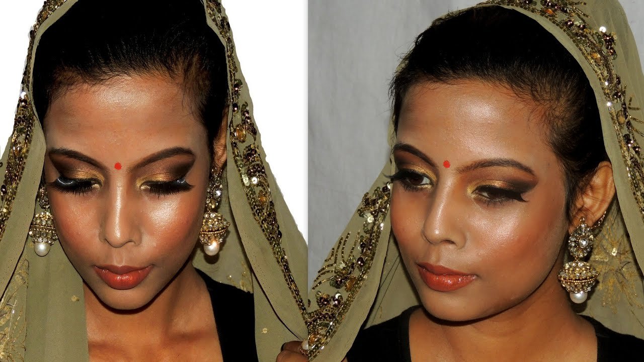 Asian indian traditional bridal makeup tutorial dark medium asian indian traditional bridal makeup tutorial dark medium brown skin tone minniedas youtube baditri Gallery