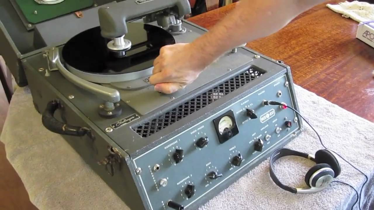 Cutting A 78 Rpm Record