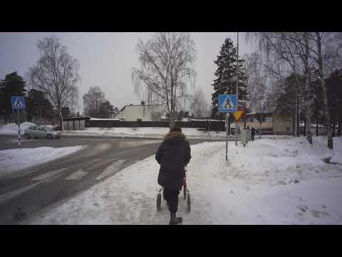 Sweden, Stockholm, Winter Walk In Haninge, February 2019