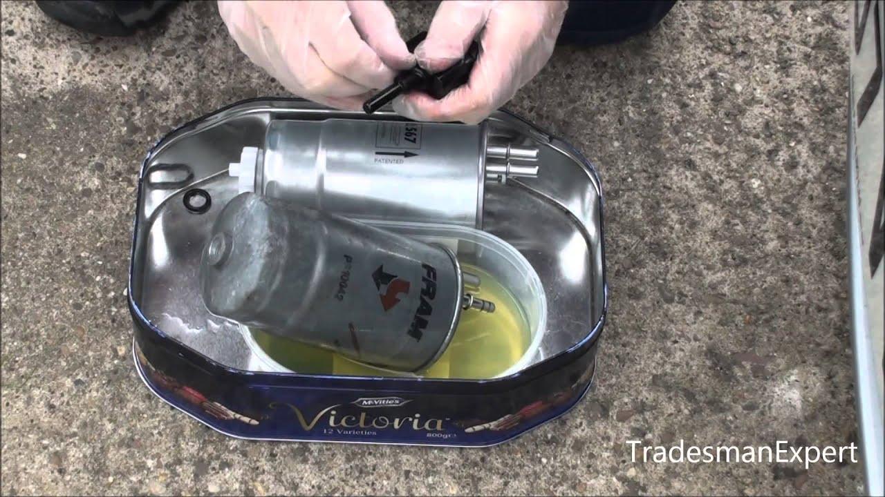 Fiat Multijet Fuel Filter Replacement Jtd Youtube Punto Evo Fuse Box