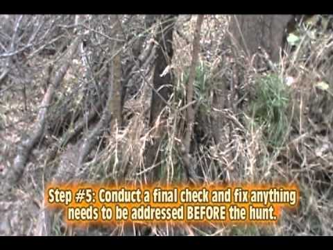 How To Build A Natural Ground Blind Youtube