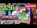 Unboxing a $4250 SUPREME/BAPE Hypebeast Mystery Box