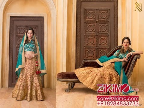 Indian Wedding Wear Net Lehenga Choli 2017 Designs | Zikimo.Com