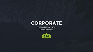 Corporate Titles ( After Effects Project Files)