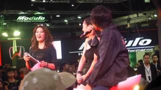 "[Fancam] 230612 Sora Aoi ""someone in your heart now?"" @ Bangkok International AUTO SALON 2012"