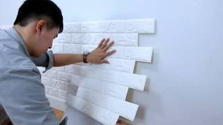 How to install DIY Self Adhensive 3D Foamy Brick Wall Sticker