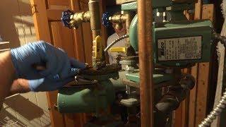 taco circulator shutoff flange leaking water