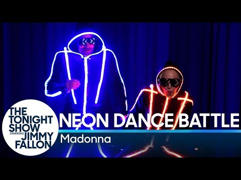 Stacey Lynn - Madonna's Neon Dance Challenge With Jimmy Fallon