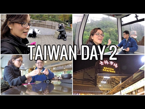 VLOG | Taipei Taiwan | Taipei Zoo, Maokong Gondola & Tea, Shilin Night Market | Day 2