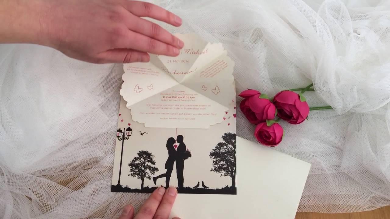 Hochzeitseinladungen Zum Aufklappen