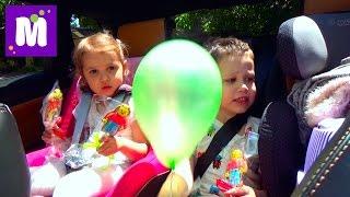 ВЛОГ Макс с кошечкой Муркой едут в садик и в МакДональдс за игрушками Хеппи Мил