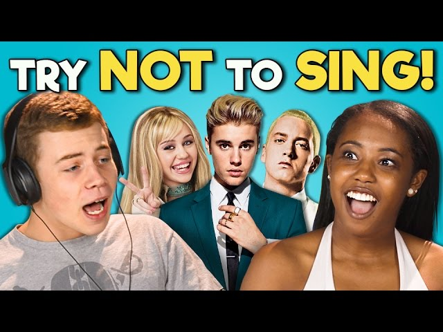 TEENS REACT TO TRY NOT TO SING CHALLENGE