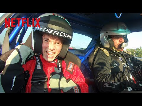 Griffin Gluck from Tall Girl Goes Drifting | Hyperdrive Crossover | Netflix