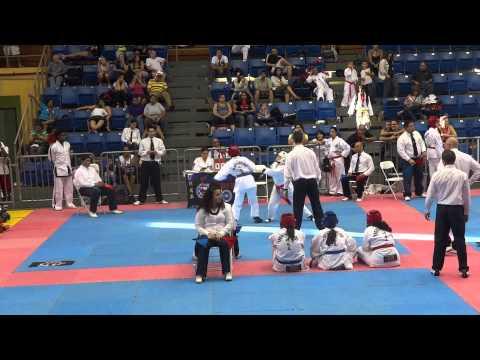 pelea en los tae kwon do games de puerto rico  cristina mejia