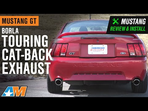 1999-2004 Mustang GT Borla Touring Cat Back Exhaust Sound Clip & Review