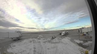 аэропорт Биллингс ,обзор турбомотрного самалета 18 ноября 2014 год .часть 3