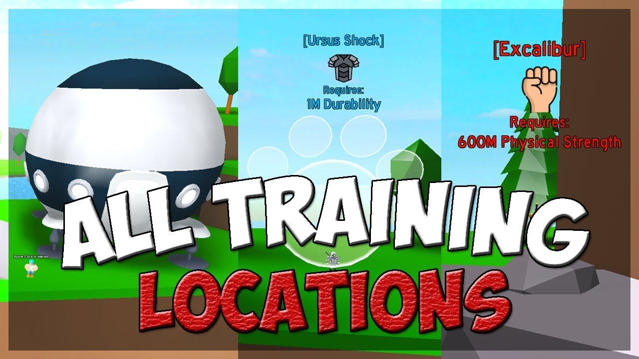 New Code All Training Locations Anime Fighting Simulator