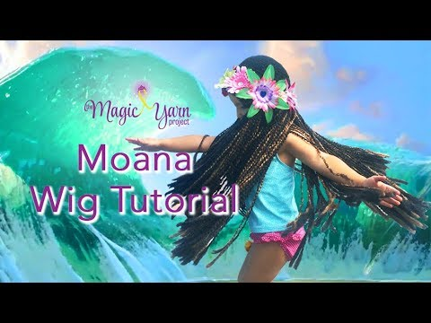 DIY Moana Wig Tutorial - YouTube 09fa4af5a03