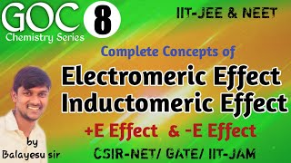 Electromeric Effect ll Inductomeric Effect ll +E & -E effects ll Temporary Effects.