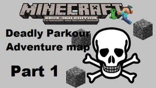 MineCraft xbox 360 edition: Deadly Parkour Adventure map - Part 1