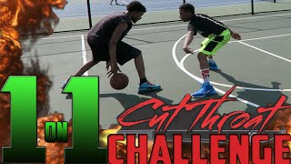 1 on 1 basketball cutthroat challenge!!! im tired of losing!!!