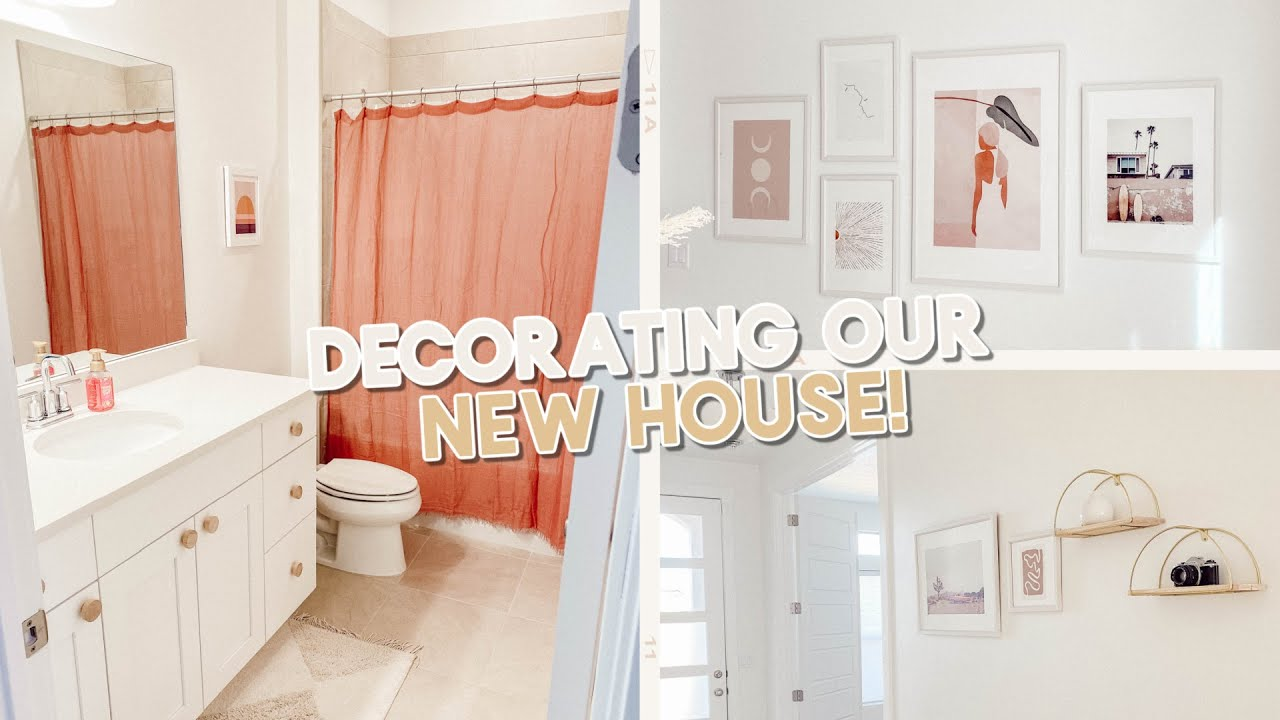 decorating our new house + target shopping! (hanging prints, new furniture & decor)