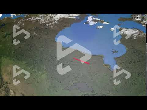 North America to Europe - Globe