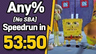 SpongeBob SquarePants: Battle for Bikini Bottom Any% (No SBA) Speedrun in 53:50 (WR on 1/14/2019)