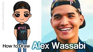 How to Draw Alex Wassabi Easy Chibi | Famous Youtuber