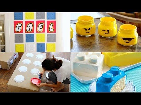 DIY Decoraciones para fiesta de legos / Lego Party Decorations - karely